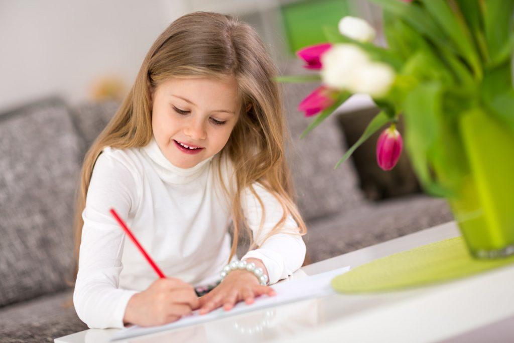 Kinder schreiben für Senioren Karten